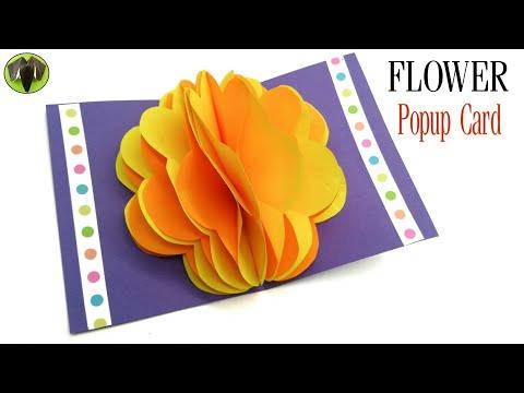 Flower Popup Card - DIY | Scrapbook | Tutorial by Paper Folds