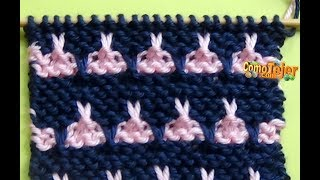 Punto Ropa Bebé #8 - How to Knit a Baby Stitch - 2 Agujas (337)