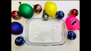 MAKING SLIME WITH Christmas Balls and Funny Balloons I Satisfying Slime video