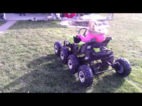 8 wheel drive 24volt power wheels dune racer