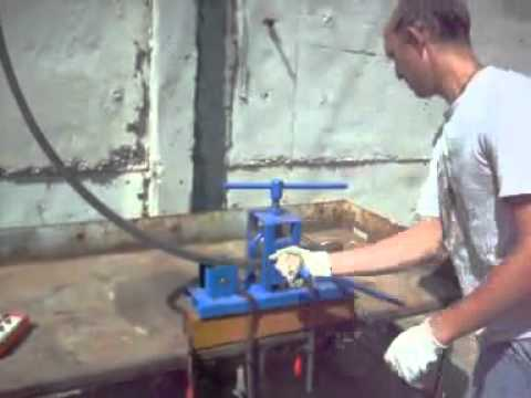 Гибочный станок профильной трубы своими руками