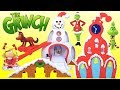 The Grinch Movie Who-Ville Town Square Play Set with Heart Glows Grinch Toy