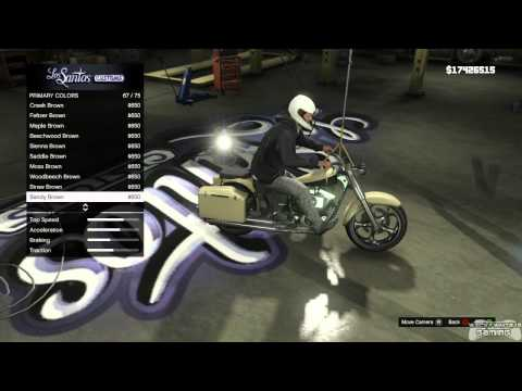 GTA 5 - Motorcycle Customization(requested by: 2men2sicario)