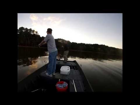White Bass Fishing Lake Allatoona (GoPro)