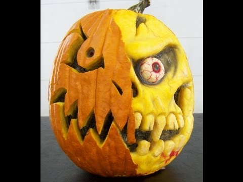 How to carve a 3-D Pumpkin