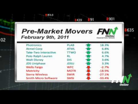 Pre-Market Movers: Tuesday, February 9th 2011