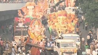 2nd Day of Ganesh Immersion Live From Tank Bund | Ganesh Nimajjanam In Hyderabad