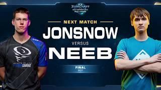 Neeb vs JonSnow PvZ - Grand Final - WCS Challenger North America