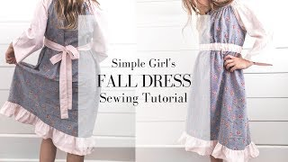 How to Sew a Peasant Dress | GIRLS DRESS SEWING TUTORIAL