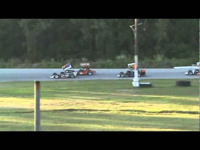 MSA Supermodifieds Lorain County Speedway Heat Race 1 07.16.11