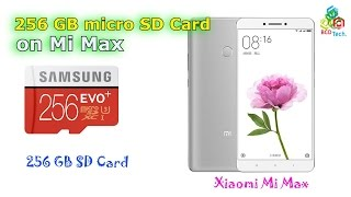 256 GB micro SD Card on Xiaomi Mi Max