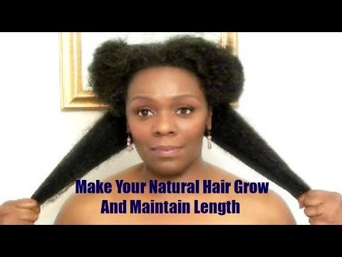 Make Your Natural Hair Grow And Maintain Growth