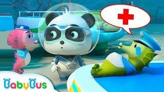 super kiki rescues hippocampus dad   baby bus