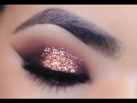 Rose Gold Glitter Makeup Tutorial