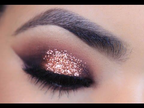 Rose Gold Glitter Makeup Tutorial