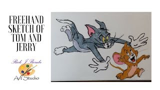 Tom and Jerry Cartoon drawing