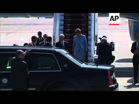 Biden arrives for Petro Poroshenko's inauguration as Ukraine's new leader