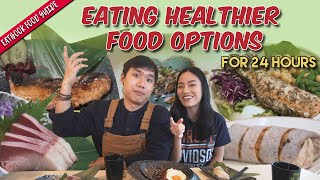 We Made John Eat Healthier for 24 Hours! | Eatbook Food Guide | EP 38