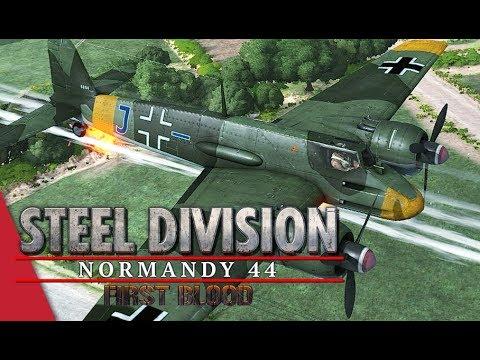Steel Division: Normandy 44 Vulcan/Valh vs YueJin/Cadilakor Game 2 (Mederet, 2v2)