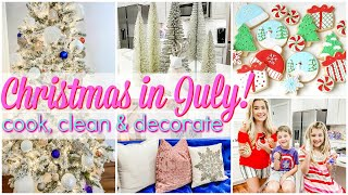 CLEAN + DECORATE WITH ME CHRISTMAS IN JULY 2020! VLOG | HOW TO DECORATE FOR CHRISTMAS FAST! Love Meg