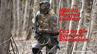 IMO#4 Paintball Vest Magfed gear loadout Air vs Co2 Drop Sacs Remote Line