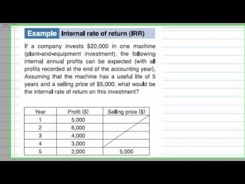 Internal rate of return IRR with  CASIO cfx9860