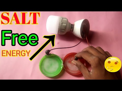 how to make 100% free energy Real or fake | free energy experiment using salt water thumbnail