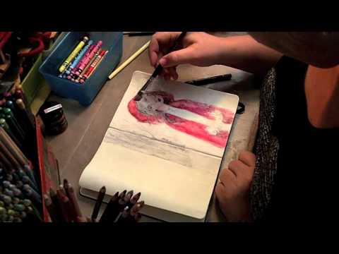Painting Gel Transfer in Art Journal