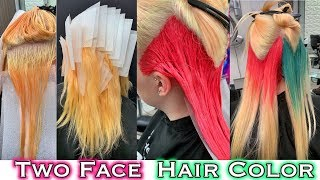 TWO FACE HAIR COLOR