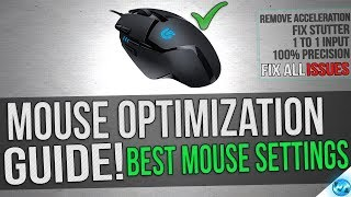 🔧 Mouse Optimization guide for Gaming - 100% Mouse Precision Raw Inputs, Remove Accleration and lag