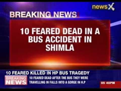 10 feared dead in a bus accident in Shimla