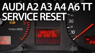 How to reset service interval in Audi A2, A3, A4, A6, TT (SRI SRL) 2000 and newer
