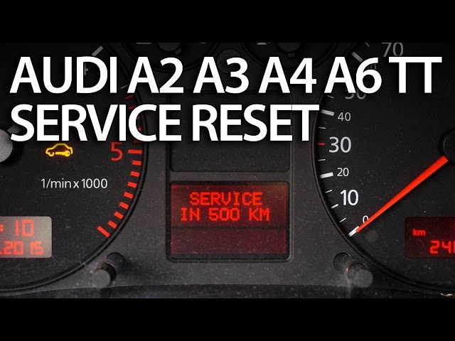 How to reset service interval in Audi A2, A3, A4, A6, TT ...