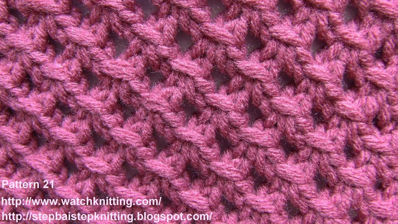 Basic Knitting Stitches Patterns : Lace Knitting Patterns- Free Knitting Tutorials - Watch Knitting- pattern 21 ...
