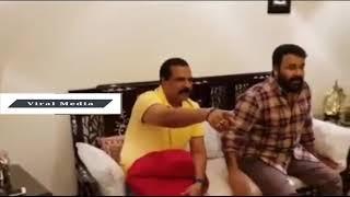 ഫുട്ബോൾ കണ്ടു ലാലേട്ടൻ കാണിക്കുന്നത് കണ്ടോ!!!!!!!| Mohanlal watching world cup footbal