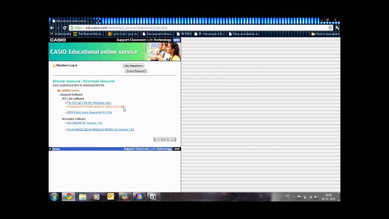 Software casio fx 9860gii download