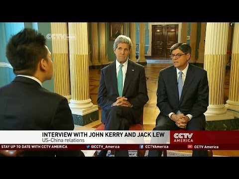 John Kerry and Jack Lew talk with CCTV