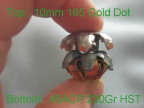 10mm Double Tap 165gr Gold Dot Test