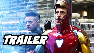 Avengers Endgame Trailer - Iron Man Hawkeye Easter Eggs Breakdown