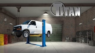 Titan HD2P-12000F 2-post Automotive Lift Installation Guide