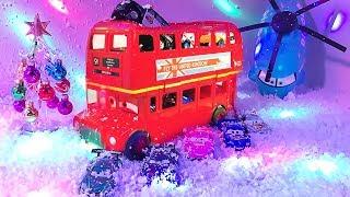 Cars 3 Lightning mcqueen Talking Bus Case Transporter - New Year Toy For Children - Играем в тачки