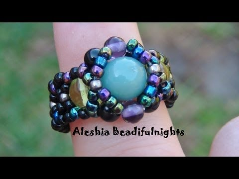 Hugs and Kisses Beaded Ring Tutorial