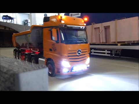 Mercedes Benz Actros 6x6 Tractor Trailer with Semi Trailer in Action