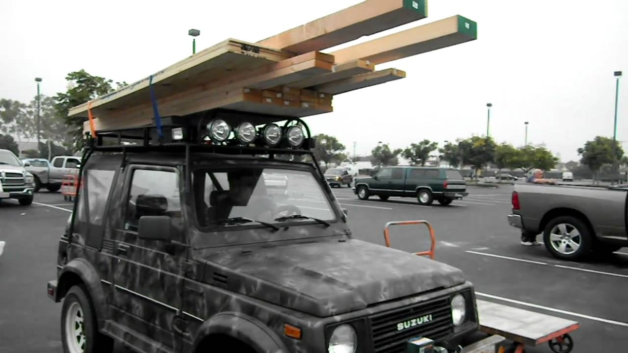 suzuki samurai with a heavy duty safari rack youtube. Black Bedroom Furniture Sets. Home Design Ideas