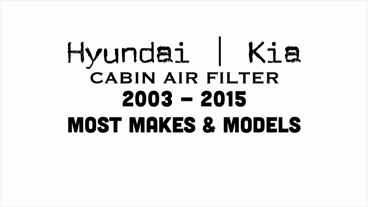 Cabin air filter hyundai kia accent azera elantra entourage sonata tucson optima sedona