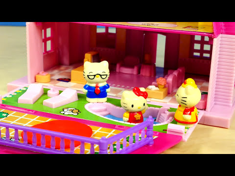 Play Doh Hello Kitty Mini Doll House Flip Out Swimming Pool Sanrio こんにちはキティの人形の家