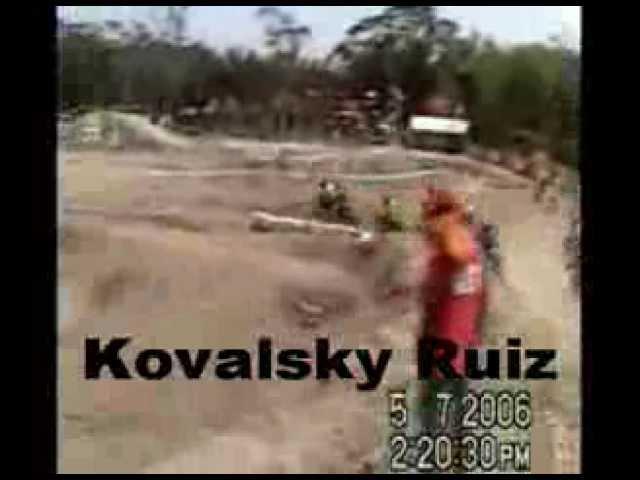 kovalsky Ruiz on bike   85cc