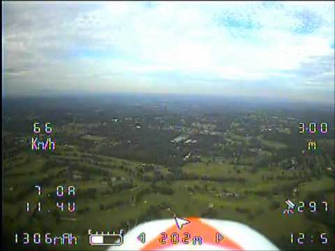FPV Easystar homemade Patch & Inverted Vee antenna first test