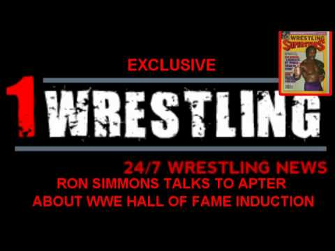 RON SIMMONS TALKS  TO APTER ABOUT WWE HALL OF FAME INDUCTION