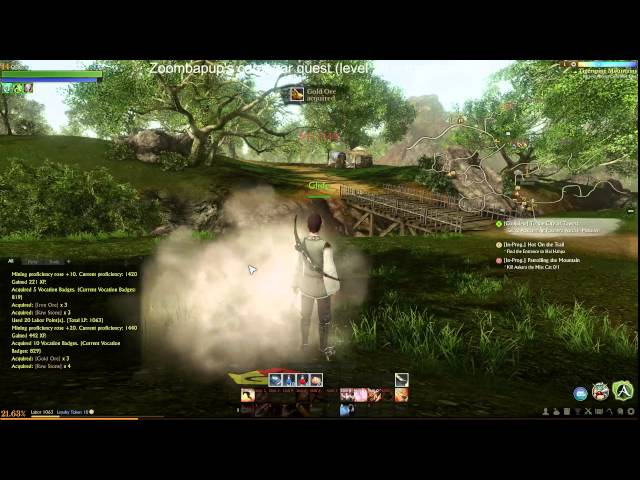 Archeage carebear quest (level 50 without killing) Day 2 Part 2